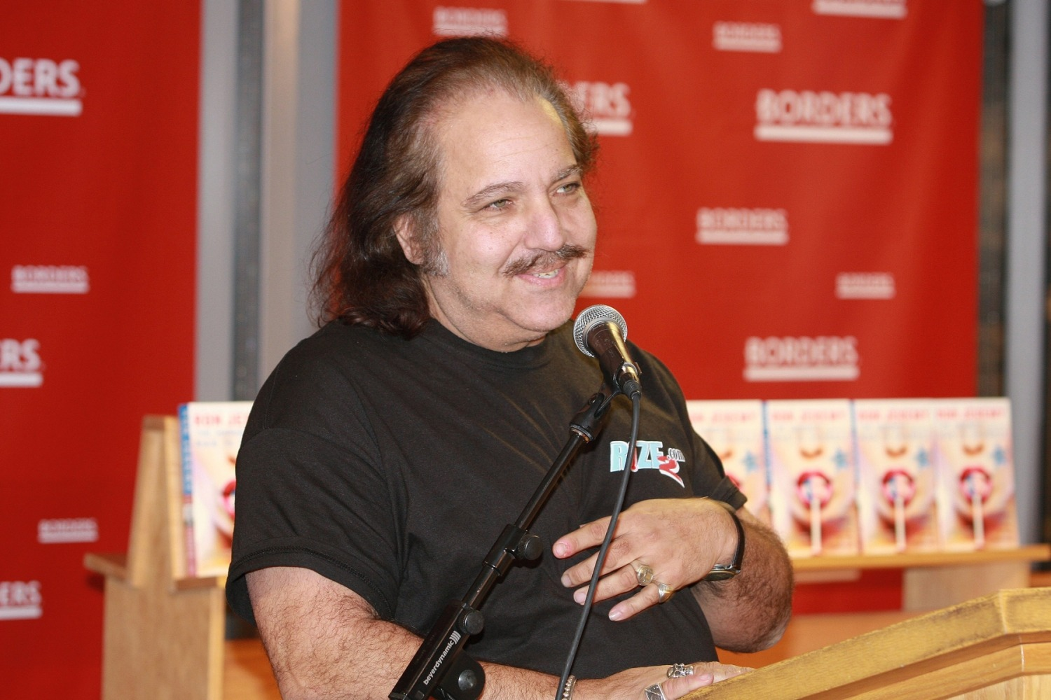 """Ron Jeremy held a discussion and book signing for his book """"The Hardest (working) Man In Showbiz"""" at Borders Books and Music in Chicago, Illinois on January 24, 2008."""