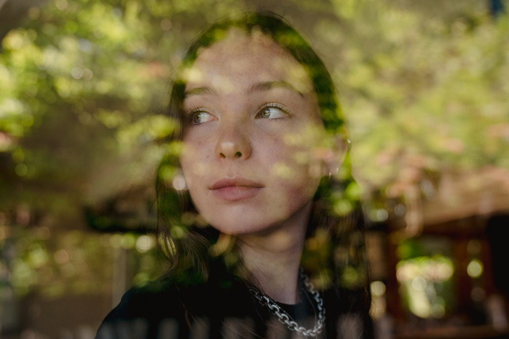 """SEATTLE, WA - JULY 25: Lily Cornell Silver, daughter of the late Chris Cornell, poses for a portrait on Saturday, July 25, 2020, in Seattle, Wash. Cornell Silver launched a new Instagram TV series about mental health, called """"Mind Wide Open."""" (Photo by Jovelle Tamayo for The Rolling Stone)"""