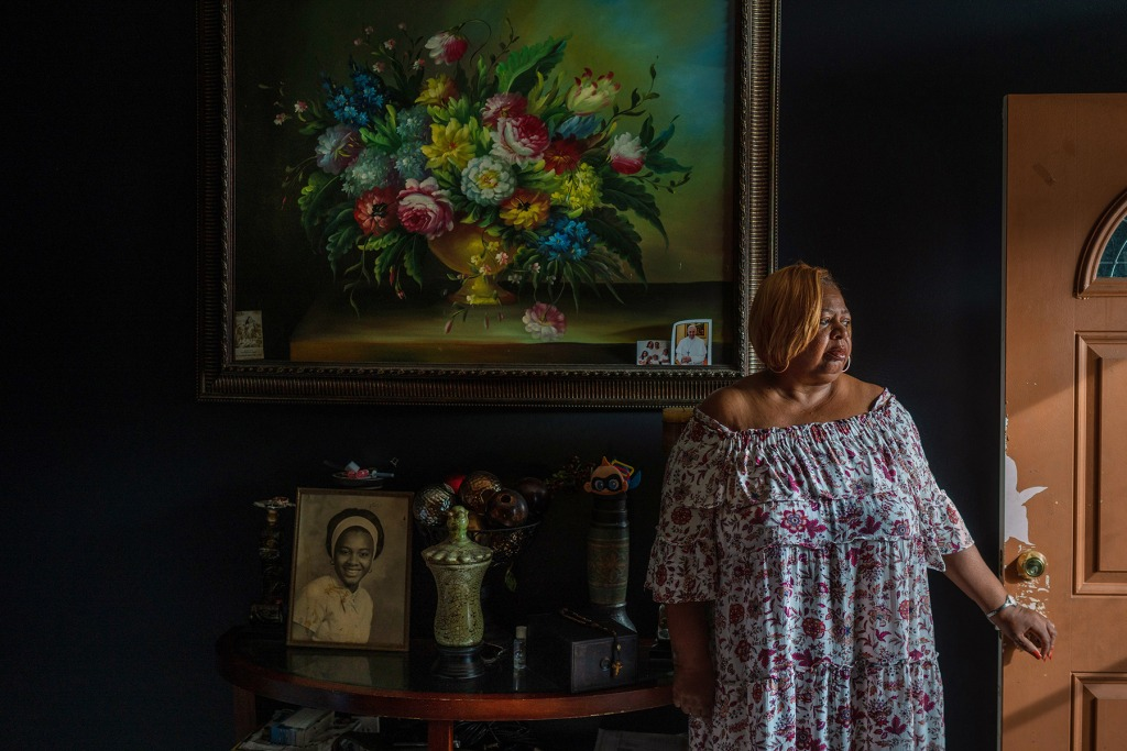 Connie Norman, photographed in the New Orleans home where her husband, Ferdinand, died.