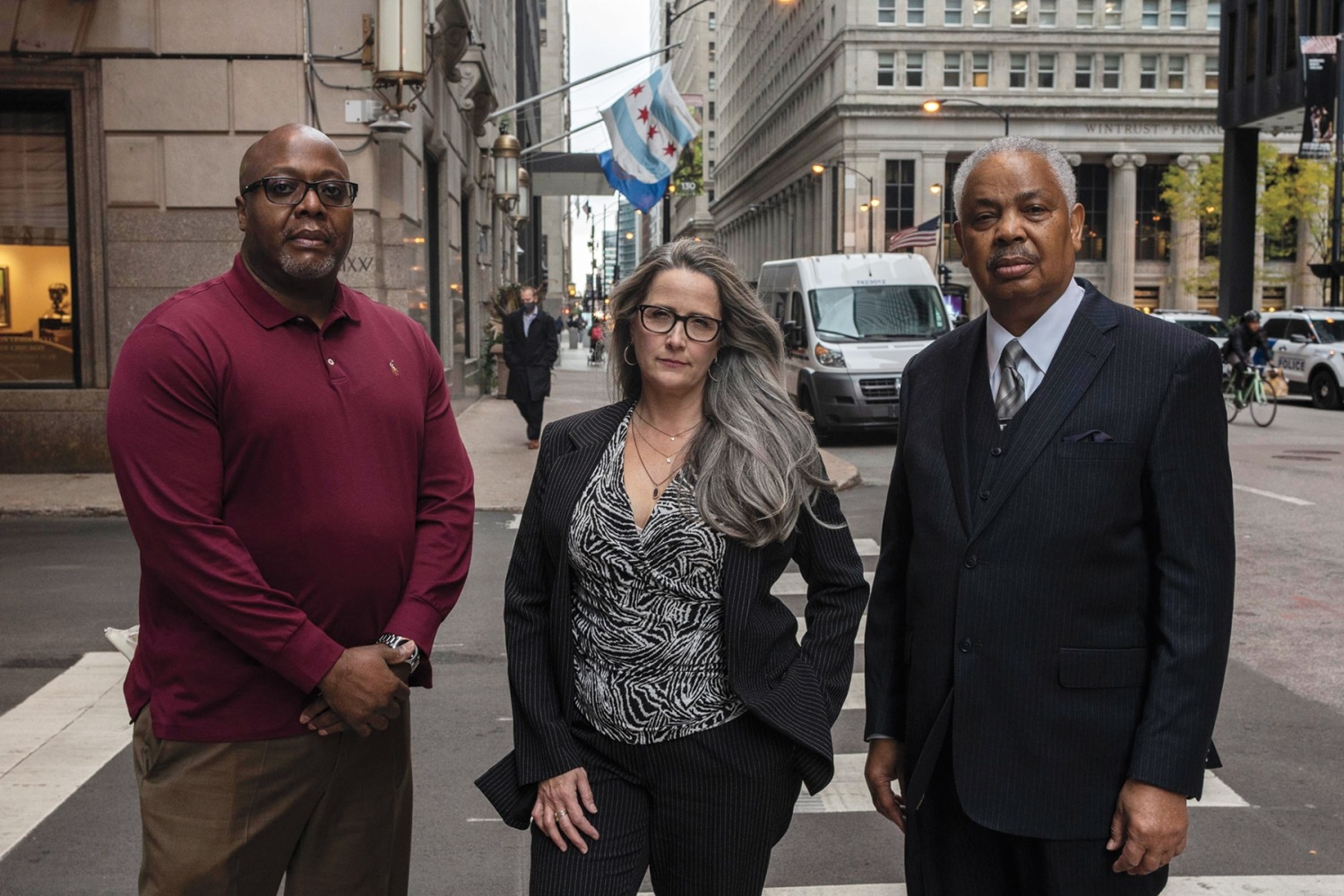 """Sgt. Isaac Lambert (left) rang the alarm that the Hayes shooting was being covered up; lawyer Torreya Ham- ilton won millions for the Cross family from the city; former CPD commander Lorenzo Davis was fired after refusing to """"fix"""" shootings."""